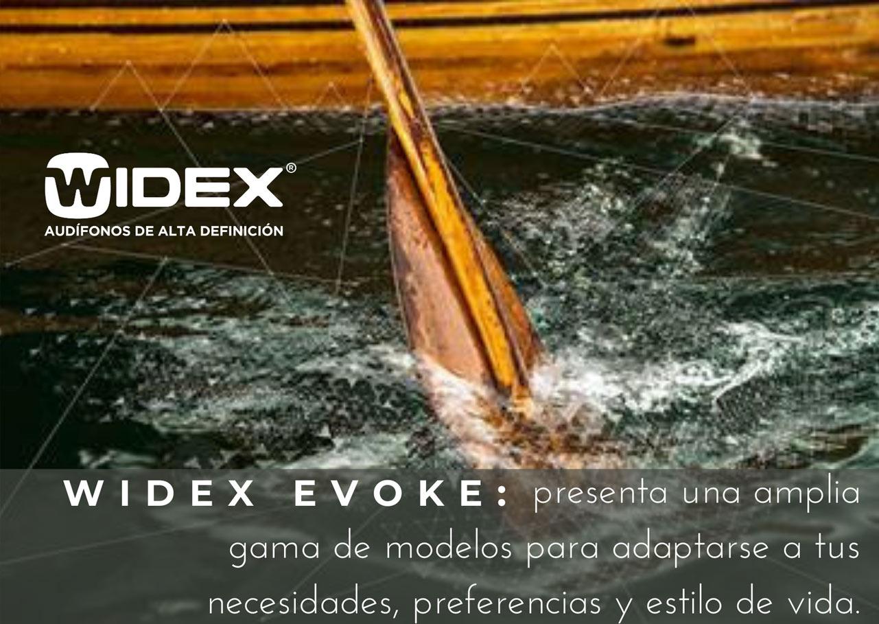 Widex Evoke: presenta una amplia gama de modelos para adaptarse a tus necesidades, preferencias y estilo de vida.