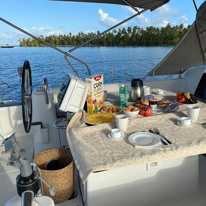 Menu OnBoard Shaula Yacht Luxury Sailing Yacht Charter in San Blas